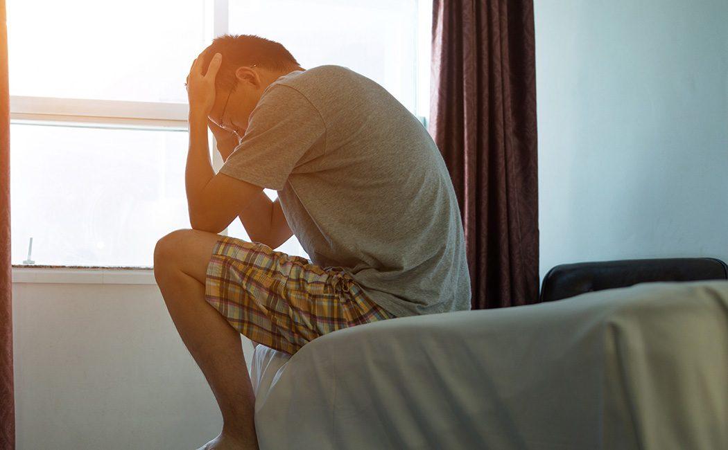 Man feeling sick